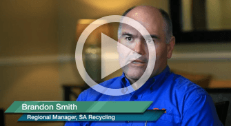 Brandon Smith, Regional Manager of SA Recycling